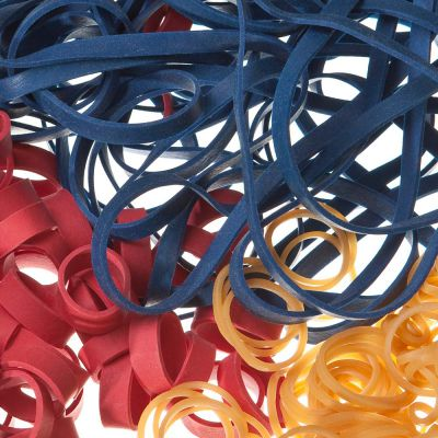 Natural Rubber Bands, colored