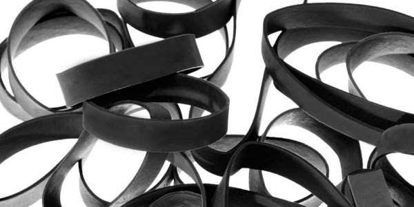 Natural Rubber Bands, Black